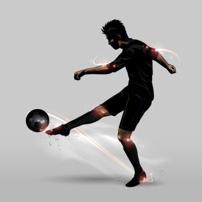 Sticker Fußballspieler halb volley