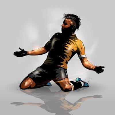 Sticker Fußballspieler Scoring Ziel