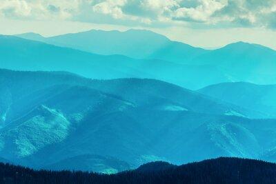 Sticker Gebirge im Sommer