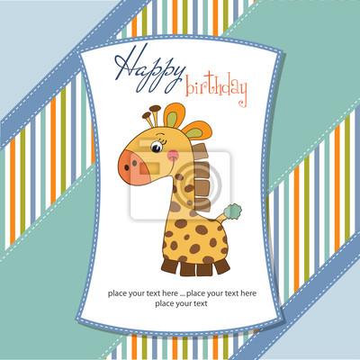 Geburtstagskarte mit Giraffe