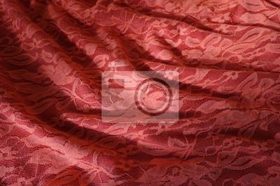 Gefaltete Rosa Orangefarbene Guipure Tuch Mit Schatten Notebook