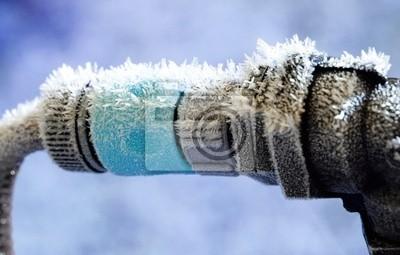 Sticker Gefrorene Gartenschlauch und Wasserleitungsanschluss