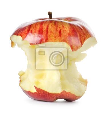 Gegessen roten Apfel