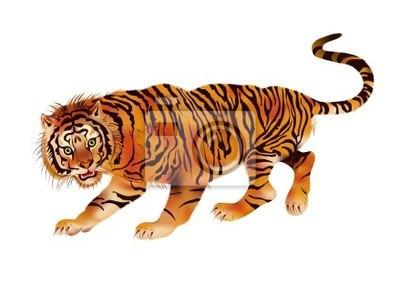 Gehen Tiger - Vektor