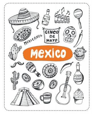 Sticker Gekritzel über Mexiko.