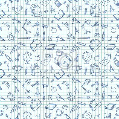 Gekritzelhand gezeichnete Linie Kunstschule-Materialgegenstände