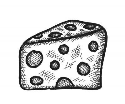 Sticker Gekritzelkäse