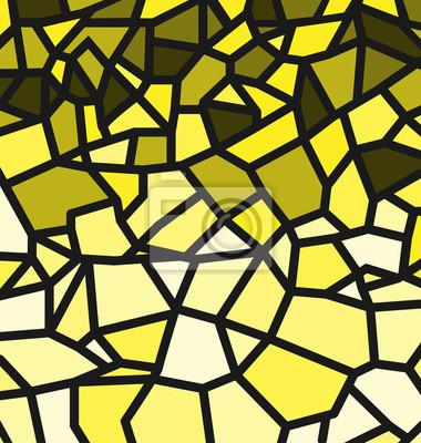 Gelbes Trencadis-Muster