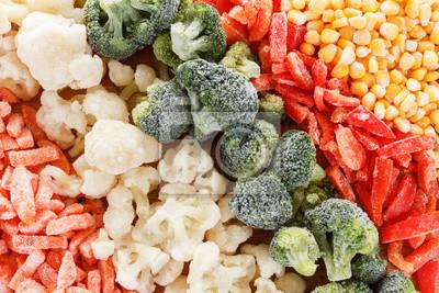 Sticker Gemischtes gefrorenes Gemüse Hintergrund