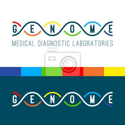 Genom-Logo weiß.