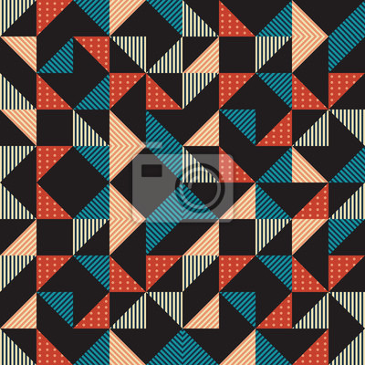 Geometric triangle seamless pattern with hipster trendy calm colors background