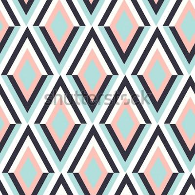 Sticker Geometrie Zick-Zack-Vektor-Muster. ethnische nahtlose Verzierung. Abstrakter Hintergrund - bunte Linien. Vektor-illustration