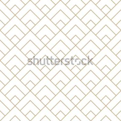 Sticker geometrische Diamantfliese minimales grafisches Vektormuster