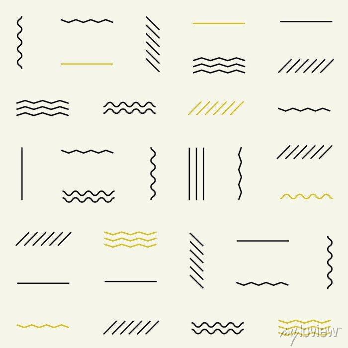 Sticker Geometrische Linien nahtlose Muster.