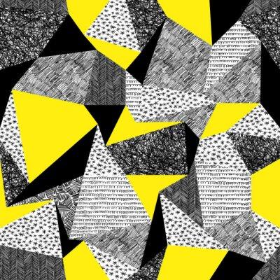 Geometrische nahtlose Muster im Retro-Stil. Jahrgang background.Tr