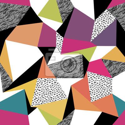 Geometrische nahtlose Muster im Retro-Stil. Jahrgang Hintergrund. C