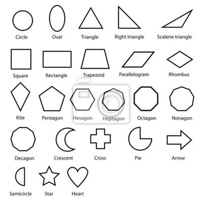 Sticker geometrischen Formen Vektor-