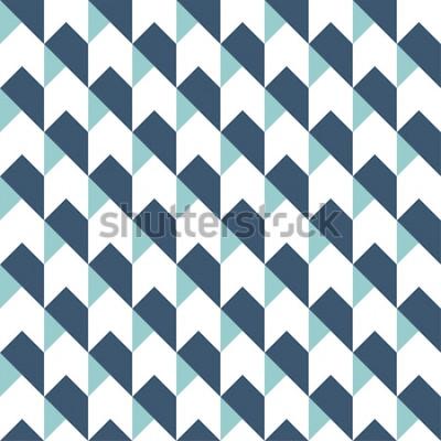 Sticker Geometrischer abstrakter nahtloser Musterhintergrund, geometrischer Hintergrund, Pfeilmuster, Sparrenmuster