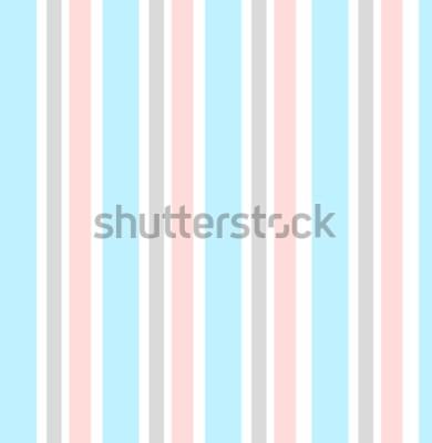 Sticker Geometrischer Hintergrund des abstrakten Vektors Vertikal gestreift Druck für Innenarchitektur und Gewebe