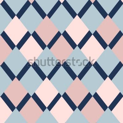 Sticker geometrisches Muster von Rauten. Geometrisches Muster. ethnische nahtlose Verzierung. Abstrakter Hintergrund - bunte Linien. Vektor-illustration