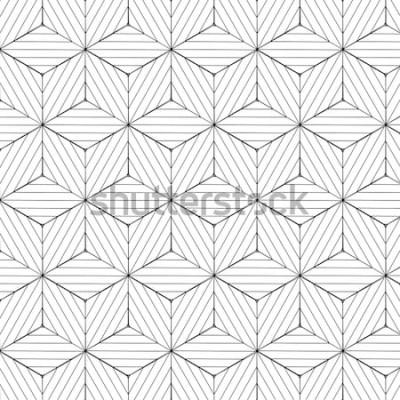 Sticker Geometrisches Schwarzweiss-Muster, Hintergrundvektor.
