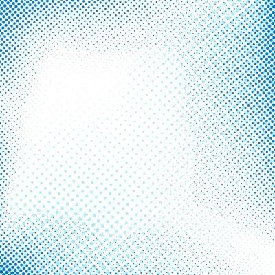 Sticker Gepunktete blaue abstrakte Retro-Hintergrund