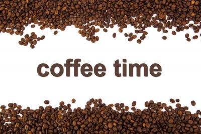 Sticker gerösteten Kaffeebohnen mit Titel