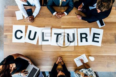 Sticker Geschäftsleute diskutieren über Arbeit Kultur in Treffen