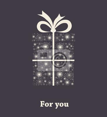 Geschenkbox aus Blumen. Vector
