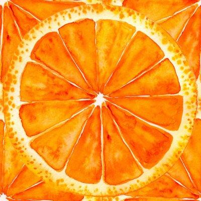 Sticker Geschnittene Orange oder Grapefruit