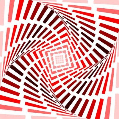 Sticker Gestalten Sie rot rotation Bewegung Illusion Hintergrund. Abstrakt Streifen
