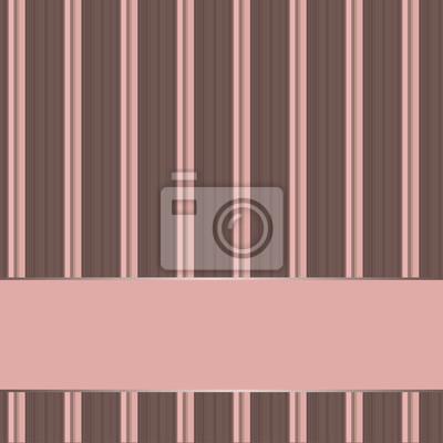 gestreiften Hintergrund mit Banner, variable Breite Streifen