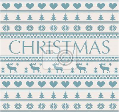 gestrickt Weihnachten Muster mit Hirschen