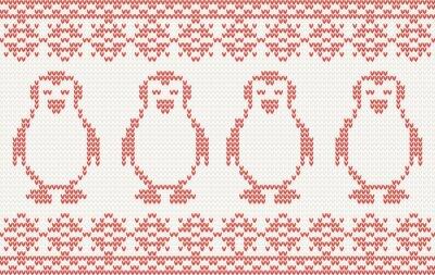 Gestrickte Hintergrund mit Pinguinen