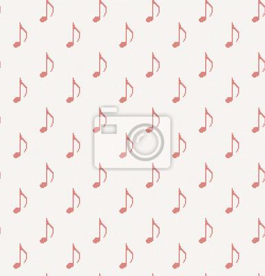 gestrickte nahtlose Muster mit Noten