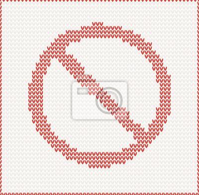Gestrickte Vektor-Illustration von Stop-Schild