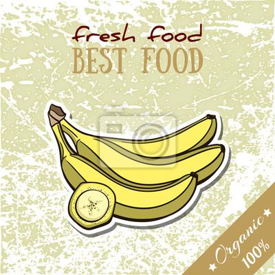 Sticker Gesunde Lebensmittel Banane