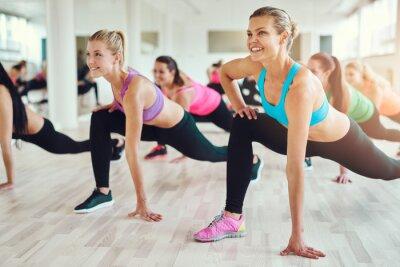 Sticker Gesunde und fit Frauen, die Fitness