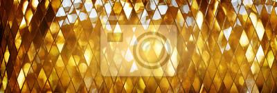 Sticker Glänzende goldene Mosaik Glas Hintergrund