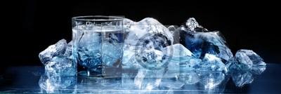 Sticker Glas mit Eis