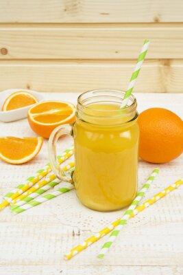 Sticker Glas Orangensaft