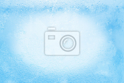 Sticker Glas während dem strengen Frost im Winter mit Eis bedeckt