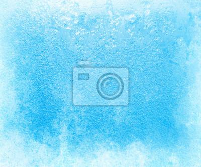 Sticker Glass in den strengen Frösten im Winter mit Eis bedeckt