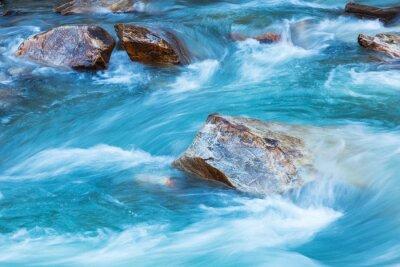 Sticker Gletscher Fluss