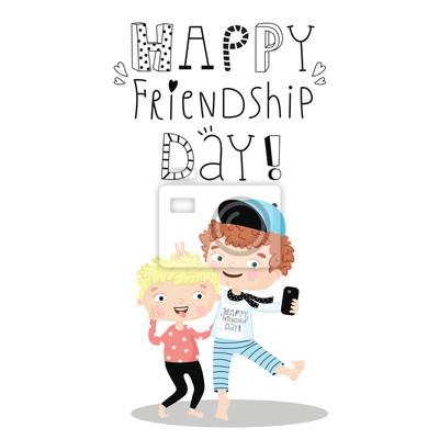 Glückliche Tag der Freundschaft.