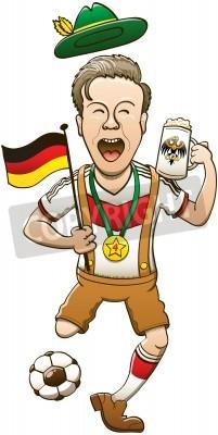 the latest 0f5db 7d1e1 Sticker: Glücklicher mann tragen traditionelle deutsche kleidung beim
