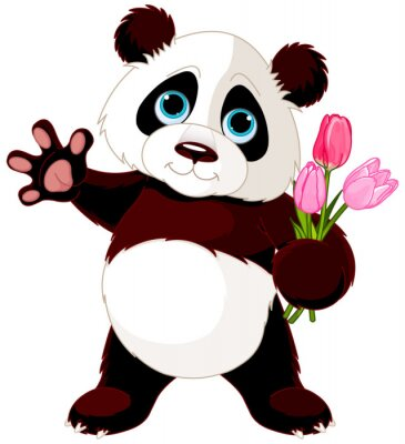 Sticker Glücklicher Panda