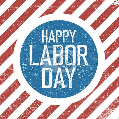 Glücklicher Tag der Arbeit. Amerikanische Flagge Hintergrund. Grunge Retro Urlaub Hintergrund.