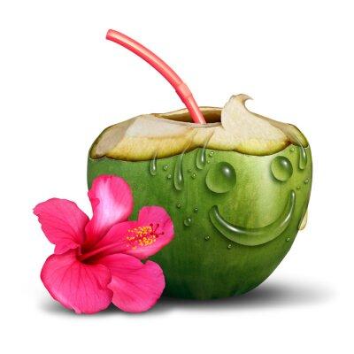 Sticker Glückliches Tropisches Getränk-Konzept