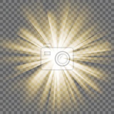 Sticker Glühende Licht platzen